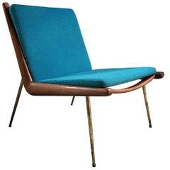 Boomerang Chair Peter Hvidt & Orla Molgaard Nielsen France & Son 1950 Blue No.2