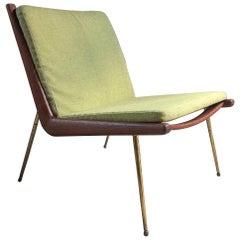 Boomerang Chair Peter Hvidt & Orla Molgaard Nielsen France & Son 1950 Green No.1