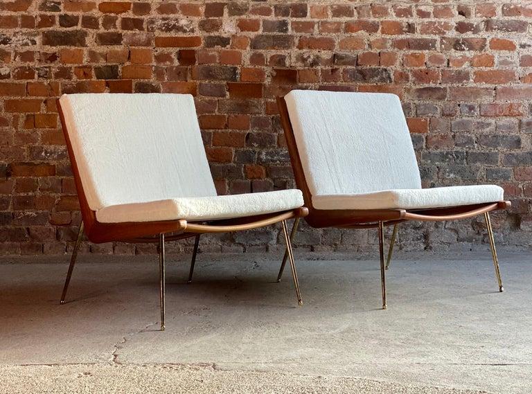 Boomerang Chairs France & Son Pair of Peter Hvidt & Orla Mølgaard Nielsen, 1950s 3