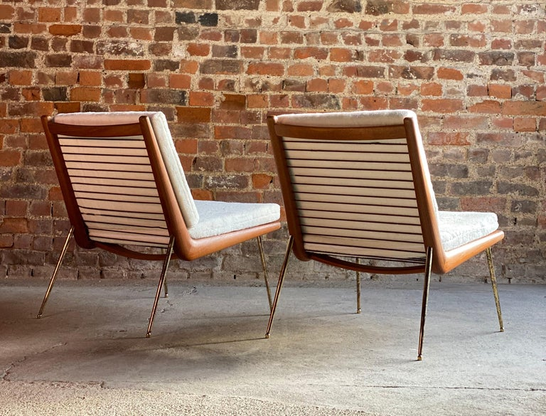 Boomerang Chairs France & Son Pair of Peter Hvidt & Orla Mølgaard Nielsen, 1950s For Sale 4