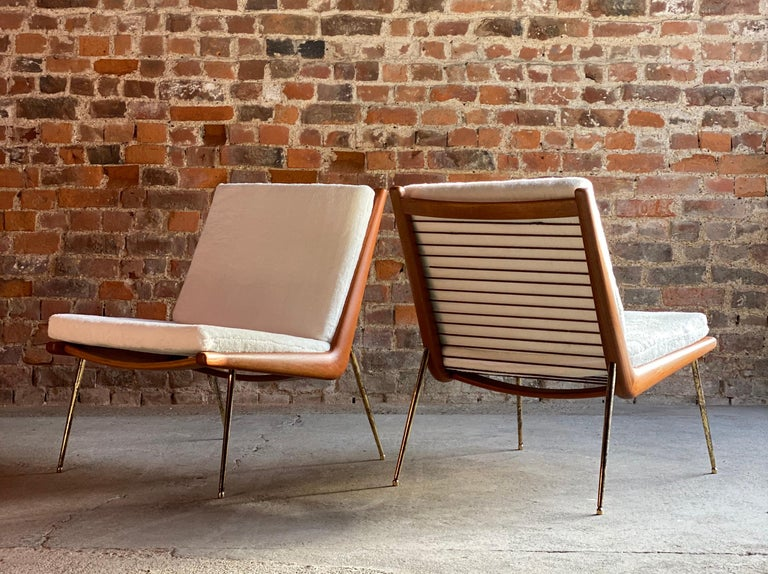 Boomerang Chairs France & Son Pair of Peter Hvidt & Orla Mølgaard Nielsen, 1950s For Sale 5