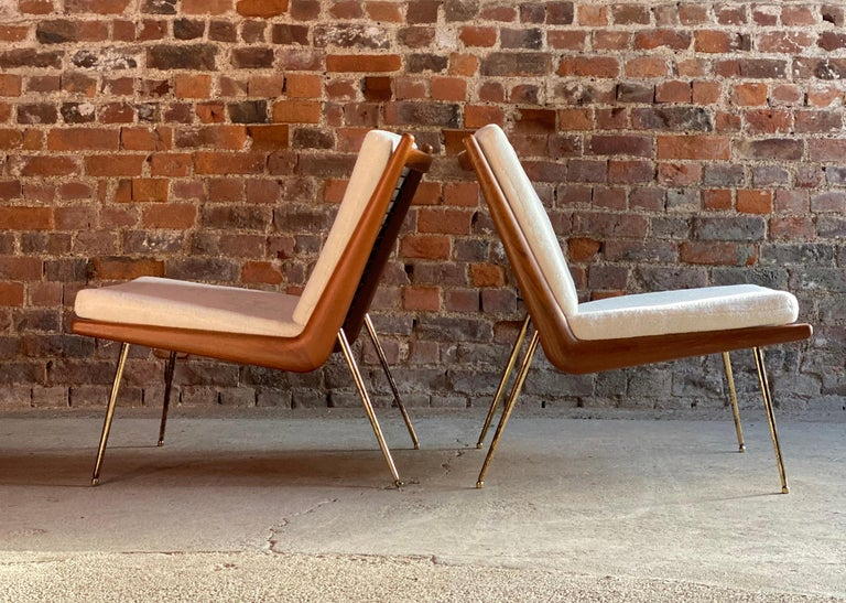 Boomerang Chairs France & Son Pair of Peter Hvidt & Orla Mølgaard Nielsen, 1950s In Excellent Condition For Sale In Longdon, Tewkesbury