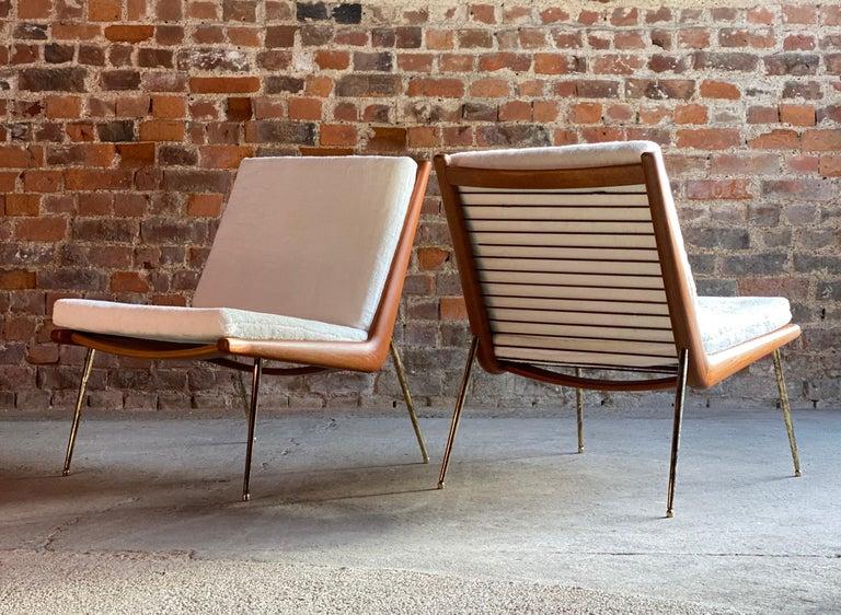 Boomerang Chairs France & Son Pair of Peter Hvidt & Orla Mølgaard Nielsen, 1950s 2
