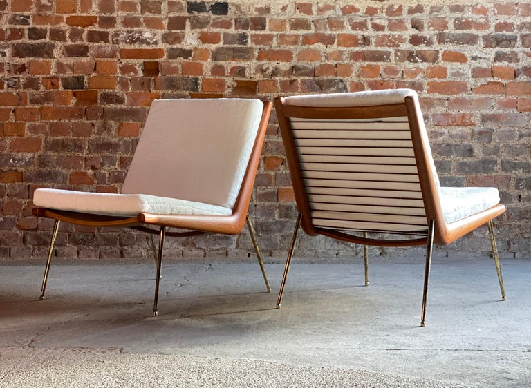 Boomerang Chairs France & Son Pair of Peter Hvidt & Orla Mølgaard Nielsen, 1950s For Sale 2