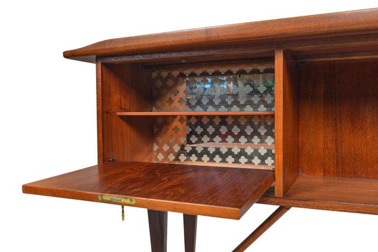 Boomerang Desk in Teak by Peter Lovig Desk For Sale 5