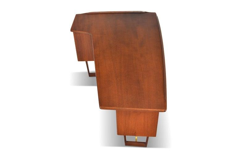 20th Century Boomerang Desk in Teak by Peter Lovig Desk For Sale