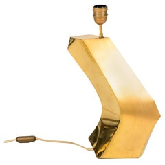 Boomerang Lamp in Gilt Brass, 1970s