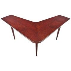 Boomerang Mahogany Drop-Leaf Coffee table by Edvard Valentinsen