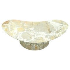 Boomerang Marble Coffee Table Stone, 1950s