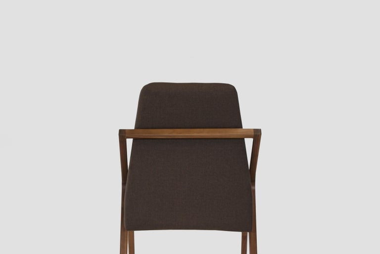 Mexican Boomerang Walnut Dinning Room Chair For Sale