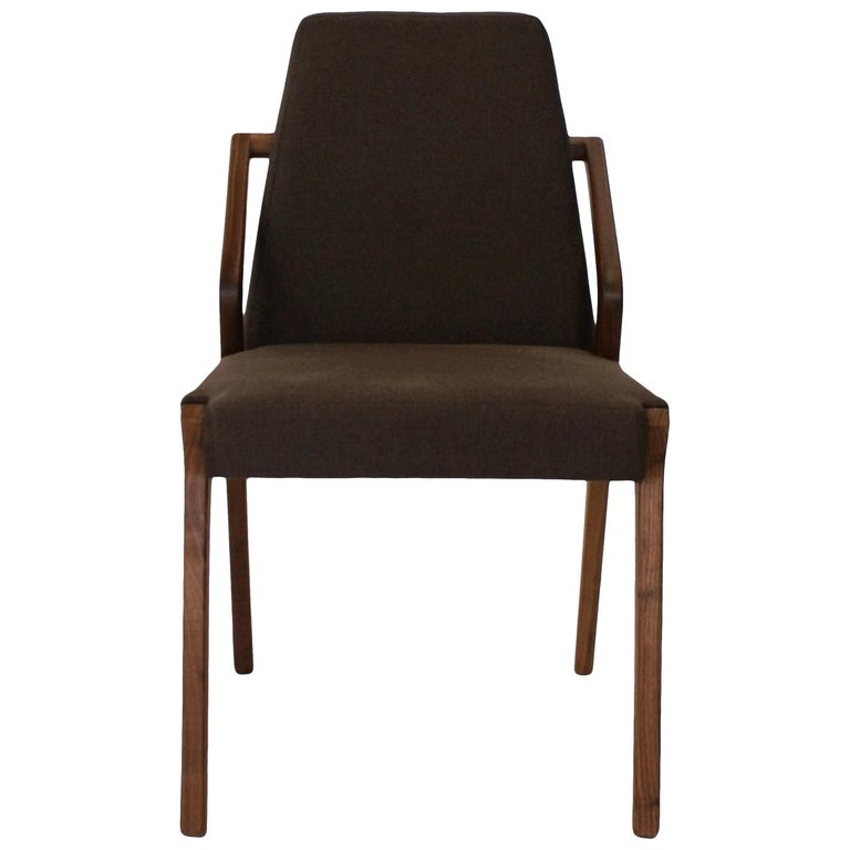 Boomerang Walnut Dinning Room Chair For Sale