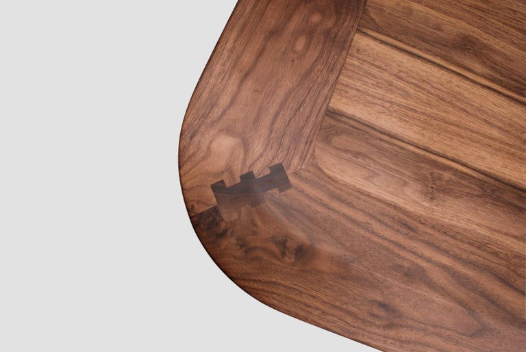 Mexican Boomerang Walnut Rectangular Dinning Table For Sale