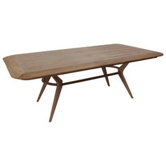 Boomerang Walnut Rectangular Dinning Table