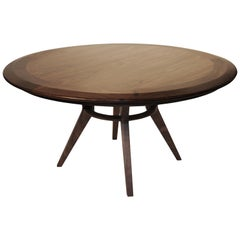 Boomerang Walnut Round  Dinning Table