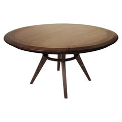 Boomerang Walnut Round Large Dinning Table