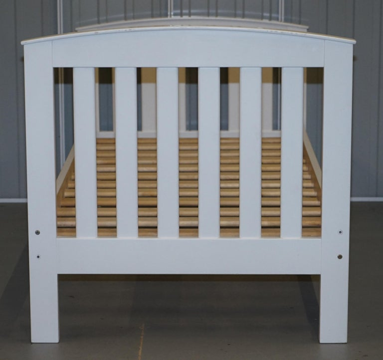 Boori Country Collection White Painted Pine Single Children's Bed Frame For Sale 3