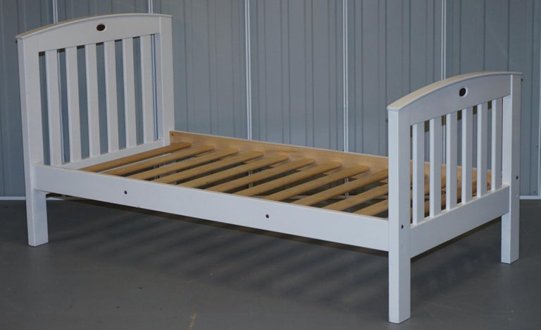 Modern Boori Country Collection White Painted Pine Single Children's Bed Frame For Sale