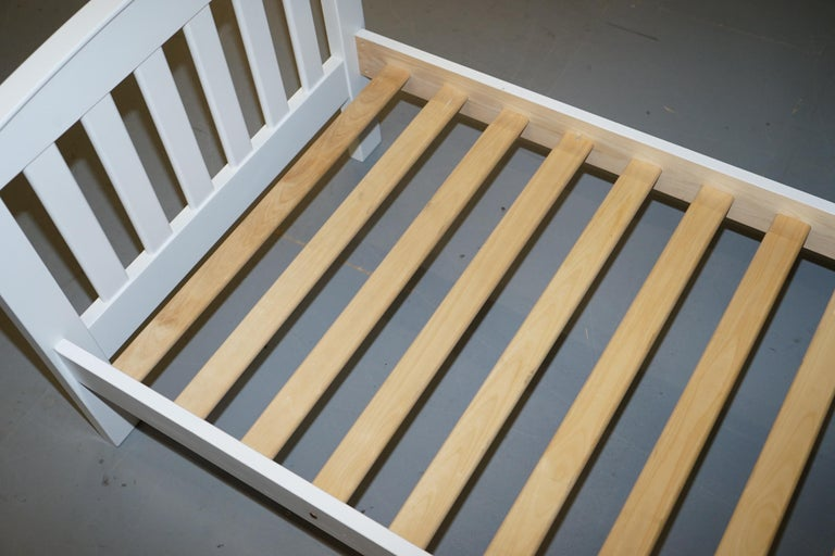 20th Century Boori Country Collection White Painted Pine Single Children's Bed Frame For Sale