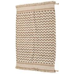 BORA Handloom Wool Indian Rug in Soft Earthy Neutral Tones