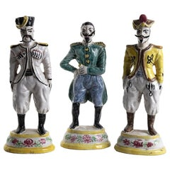 Borbonic Officers Sculptures, Made in Italy, 19th century