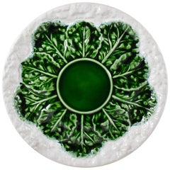 Bordallo Pinheiro C. Rainha Portuguese Mid-Century Modern Era Cauliflower Plate