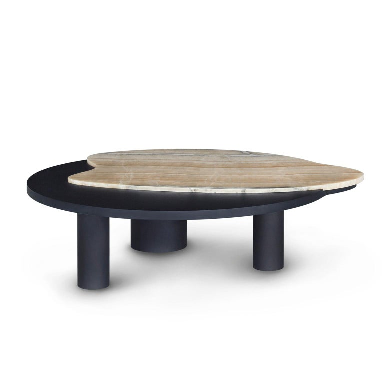 Portuguese 21st Century Modern Bordeira Coffee Table Handcrafted Portugal by Greenapple  For Sale