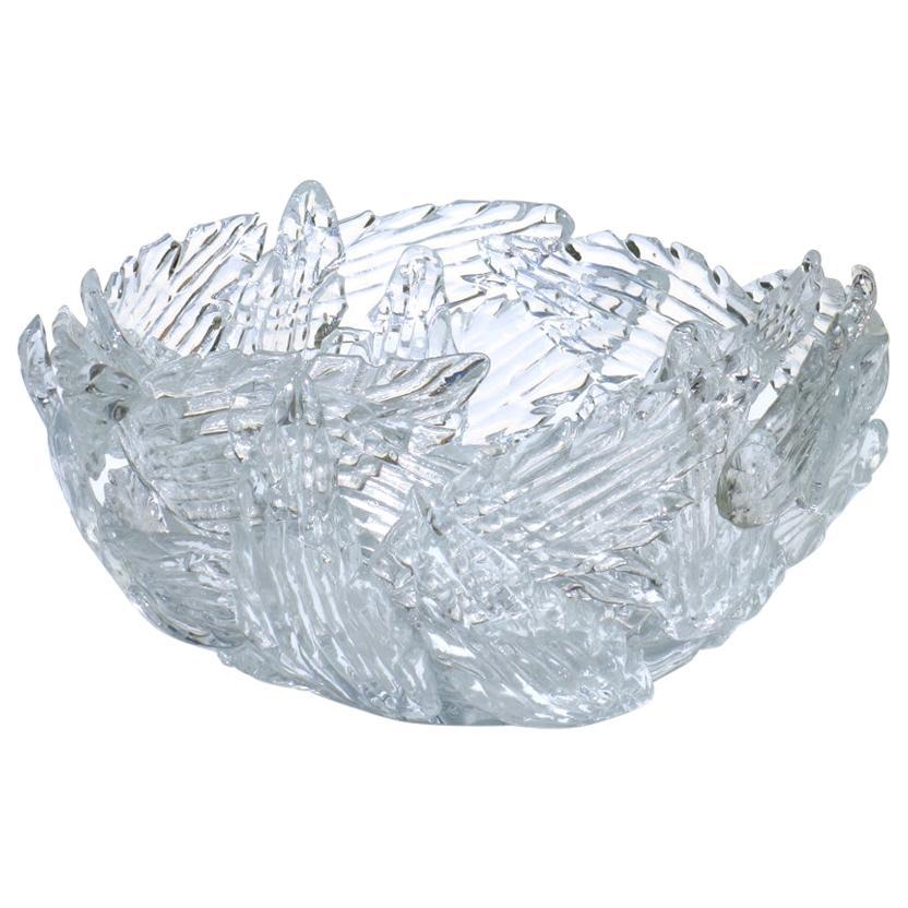 "Borek Sipek Design Driade ""Euridice"" Transparent Glass Bowl"