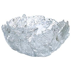"Borek Sipek Design Driade ""Euridice"" Transparent Glass Bowl"