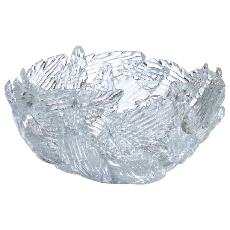 "Borek Sipek Design Driade ""Euridice"" Transparent Glass Bowl For Sale"