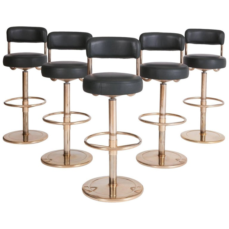 Borge Johansson Jupiter Bar Stools Set Of Five At 1stdibs