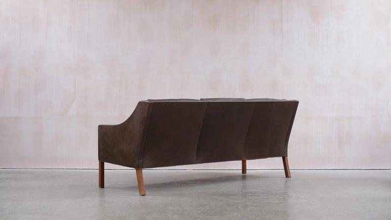 Leather Børge Mogensen 2209 Sofa For Sale