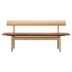 Borge Mogensen 3171 Bench - Lacquered Oak - Fabric