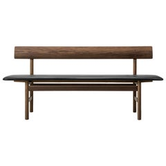 Borge Mogensen 3171 Bench, Smoked Oak, Leather