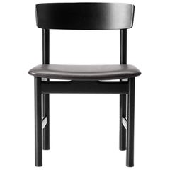Borge Mogensen 3236 Dining Chair, Black Lacquer, Leather