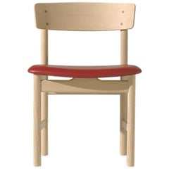 Borge Mogensen 3236 Dining Chair, Lacquered Oak, Leather