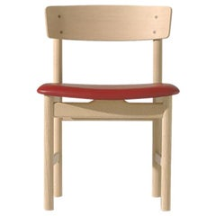 Borge Mogensen 3236 Dining Chair, Oiled Oak, Leather