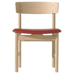 Borge Mogensen 3236 Dining Chair, Soaped Oak, Leather