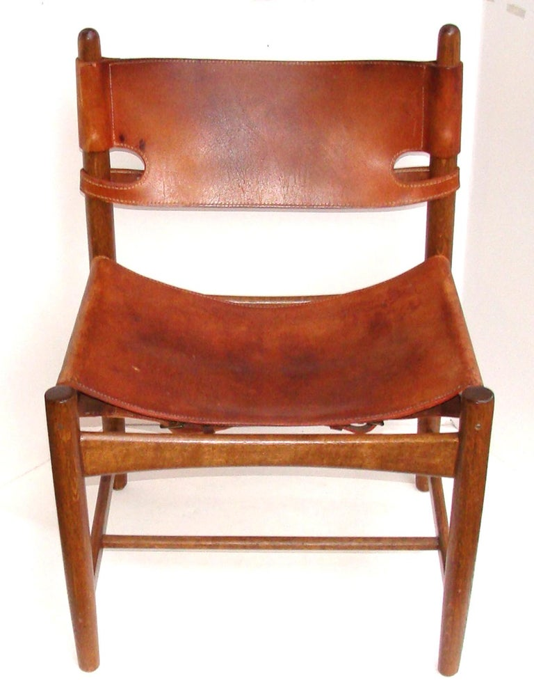 Scandinavian Modern Borge Mogensen Chair Early Productioin For Sale
