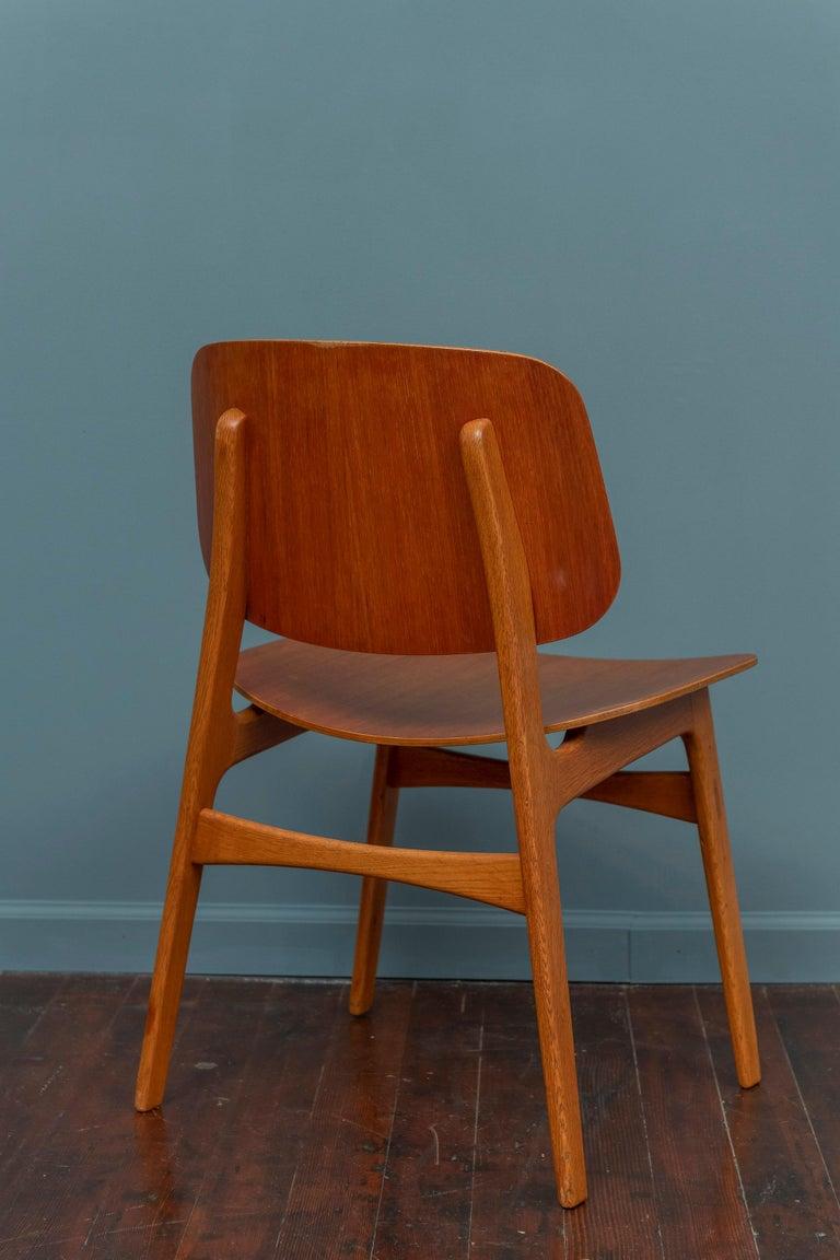 Mid-20th Century Børge Mogensen Chair for Søborg Møbelfabrik For Sale