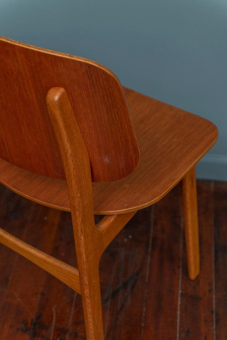 Teak Børge Mogensen Chair for Søborg Møbelfabrik For Sale