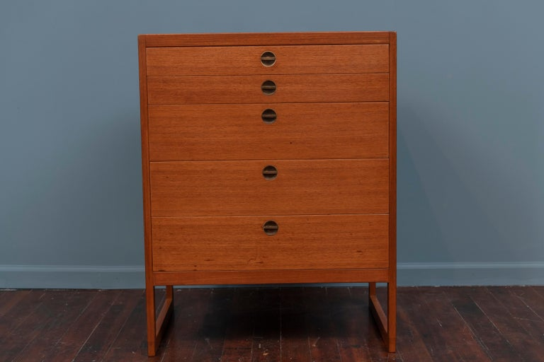 Borge Mogensen design teak and oak chest of drawers for P. Lauritsen and Son, Denmark.