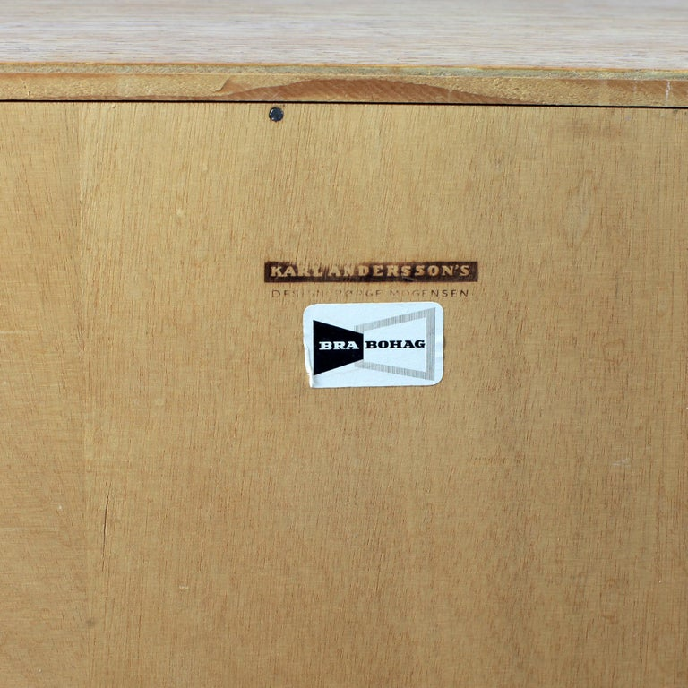 Borge Mogensen Chest of Drawers Oak and Teak For Sale 6