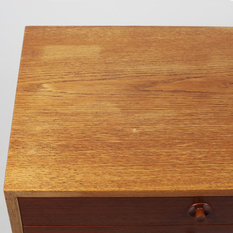 Borge Mogensen Chest of Drawers Oak and Teak For Sale 2