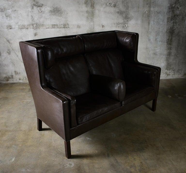 Leather Borge Mogensen 'Coupe' Sofa For Sale