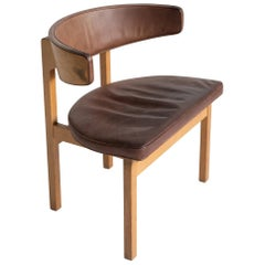 Borge Mogensen Desk Chair, Denmark, circa 1975