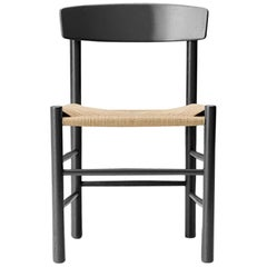 Borge Mogensen J39 Dining Chair, Black Lacquer