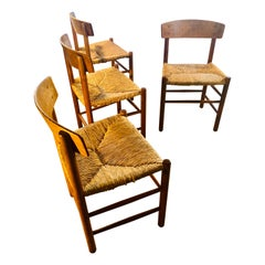 Borge Mogensen J39 for Federicia 1st edition 1947 Rush Dining Chairs