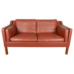 Borge Mogensen Leather Loveseat