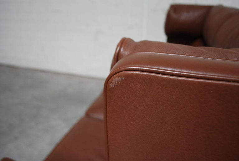 Børge Mogensen Leather Sofa Coupe 2192 for Fredericia For Sale 4