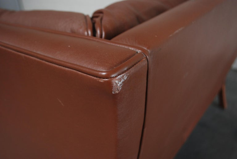Børge Mogensen Leather Sofa Coupe 2192 for Fredericia For Sale 5
